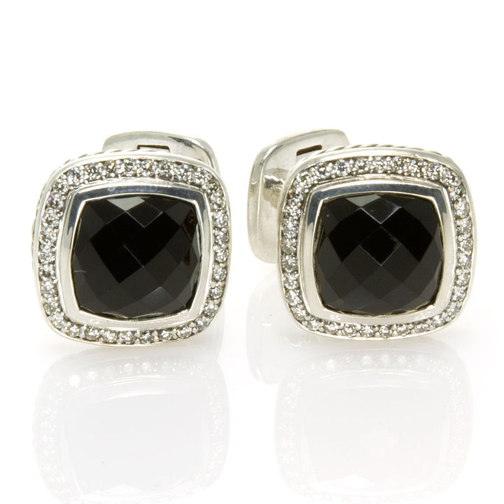 David Yurman Albion Black Onyx & Diamond Cufflinks - Chicago Pawners & Jewelers