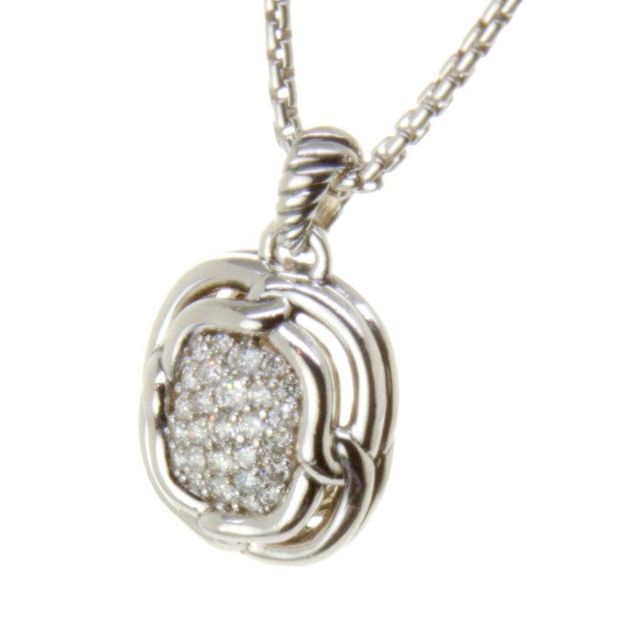 David Yurman Pavé Diamond  Pendant Necklace - Chicago Pawners & Jewelers