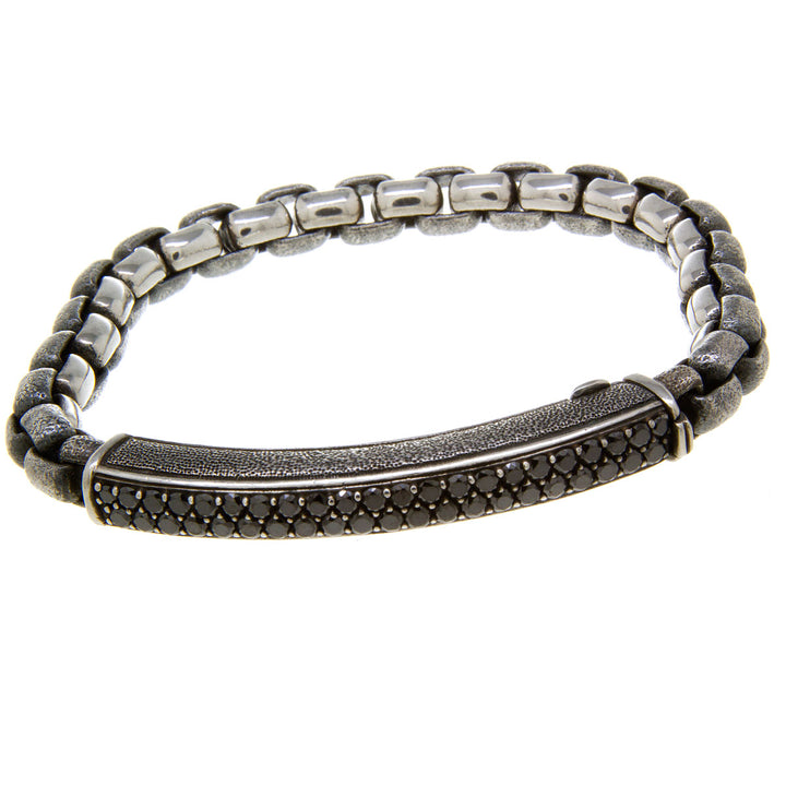 David Yurman Pavé ID Bracelet with Black Diamonds - Chicago Pawners & Jewelers