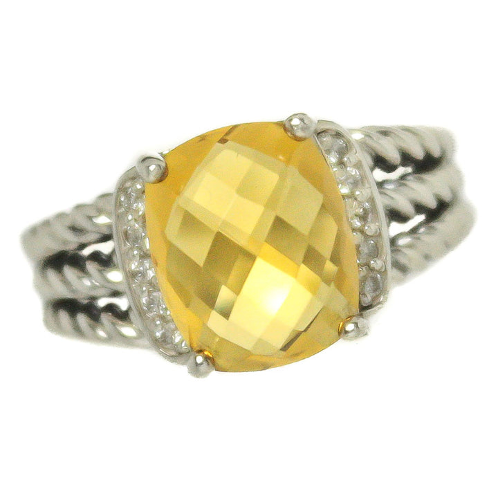David Yurman Petite Wheaton Citrine & Diamond Ring - Chicago Pawners & Jewelers