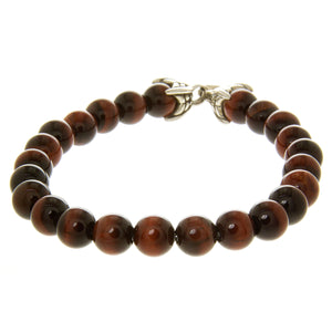 David Yurman Spiritual Bead Bracelet with Red Tiger's Eye - Chicago Pawners & Jewelers
