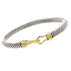 David Yurman Cable Classic Buckle Bangle Bracelet - Chicago Pawners & Jewelers