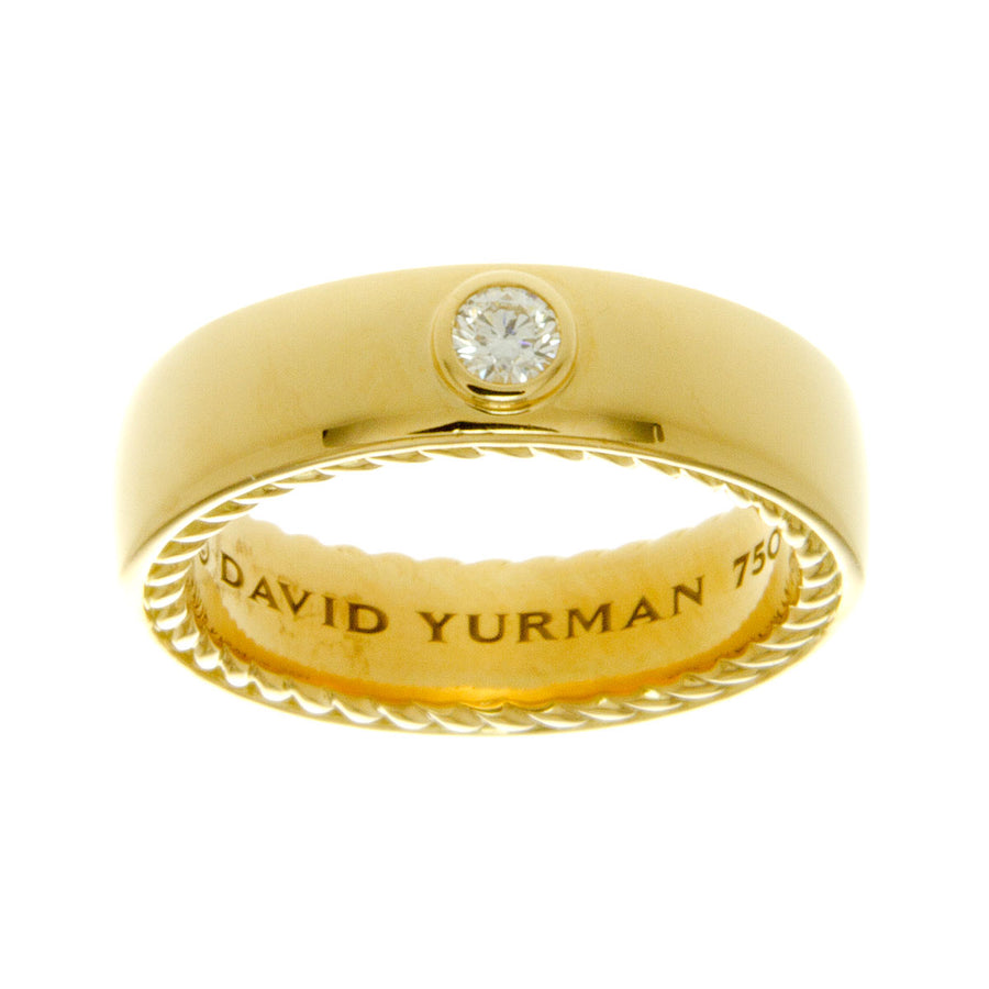David Yurman 18kt Streamline Diamond Wedding Band - Chicago Pawners & Jewelers