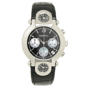 DeLaneau Three Time Zones Chronograph - Chicago Pawners & Jewelers