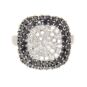 Effy 2.50ct Black & White Diamond Cushion Ring