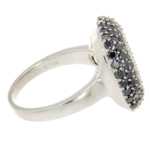 Effy 2.50ct Black & White Diamond Cushion Ring - Chicago Pawners & Jewelers