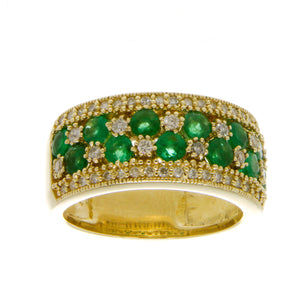 Effy 2.00ct Emerald & Diamond Band Ring - Chicago Pawners & Jewelers