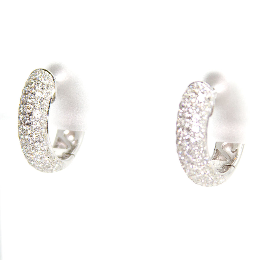 Effy Pavé Classica Diamond Huggie Earrings - Chicago Pawners & Jewelers