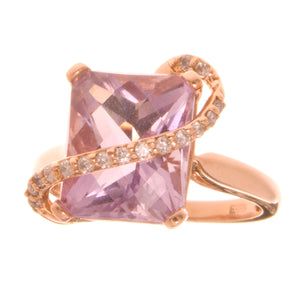 Effy Rose Gold Amethyst & Diamond Ring - Chicago Pawners & Jewelers