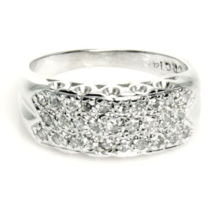 Vintage 3 Row Diamond Anniversary Band