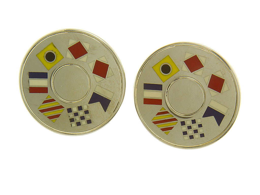 Tiffany Nautical Flag Cufflinks