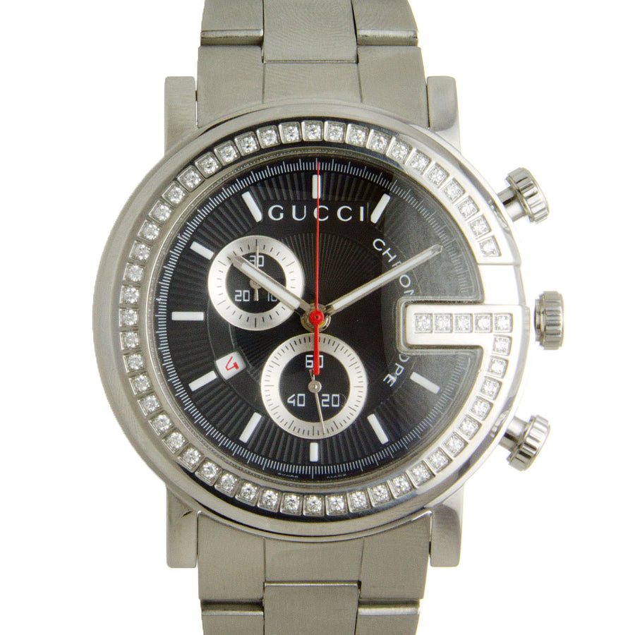 Gucci 101M G Diamond Chronograph - Chicago Pawners & Jewelers