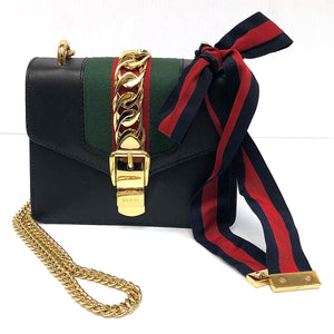 Gucci Sylvie Mini Leather Shoulder Bag - Chicago Pawners & Jewelers