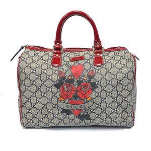 Gucci GG Tattoo Heart Medium Joy Boston Bag - Chicago Pawners & Jewelers