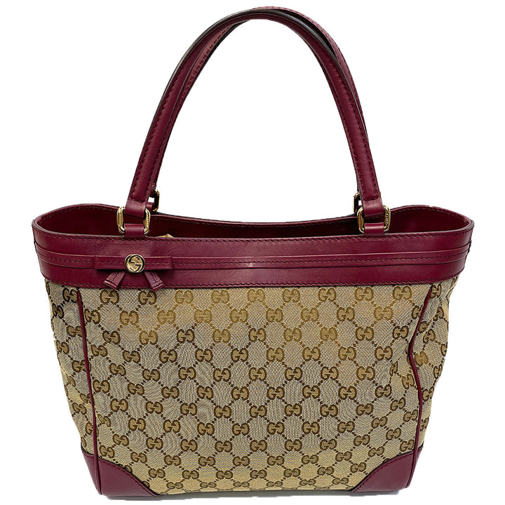 Gucci GG Mayfair Tote Beige/Cherry - Chicago Pawners & Jewelers