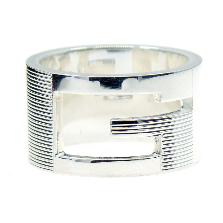 Gucci Wide Cutout G Band Ring