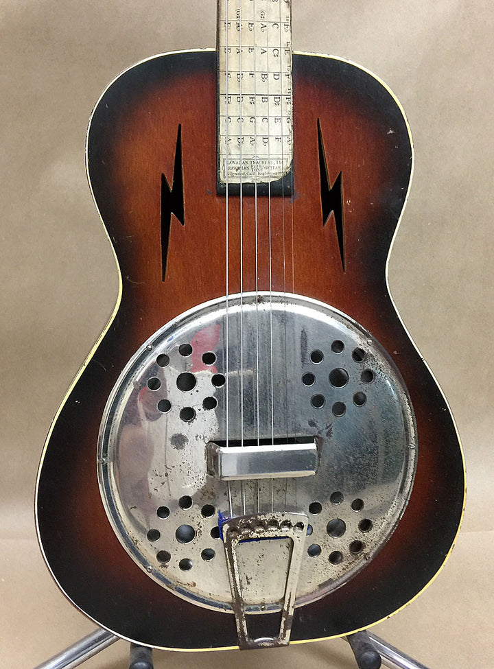 1930s Hawaiian Teachers of Hollywood Radio Tone Resonator Guitar - Chicago Pawners & Jewelers