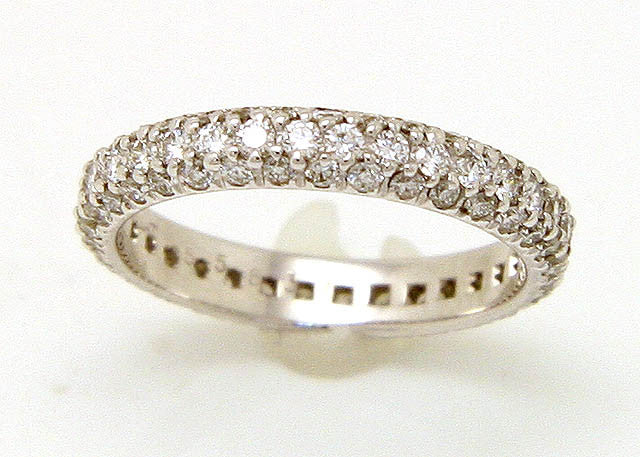 Kwiat 1.22ct Pave' Diamond Anniversary Eternity Band - Chicago Pawners & Jewelers