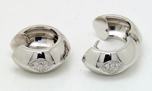 18kt White Gold Diamond Earrings - Chicago Pawners & Jewelers