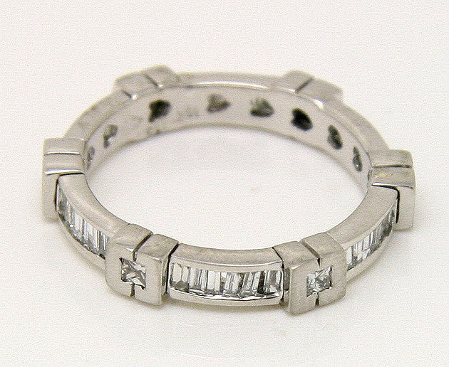 1.10ct Princess & Baguette Diamond Anniversary Band - Chicago Pawners & Jewelers