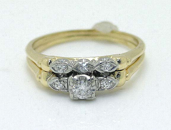 1940s Diamond Bridal Set - Chicago Pawners & Jewelers