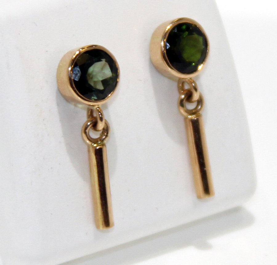 Vintage Green Tourmaline Earrings