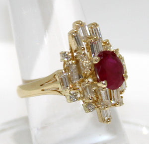 2.72ct Ruby & Diamond Ring - Chicago Pawners & Jewelers