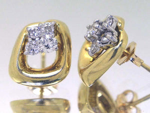 Jose Hess Designed 18KT Diamond Earrings - Chicago Pawners & Jewelers