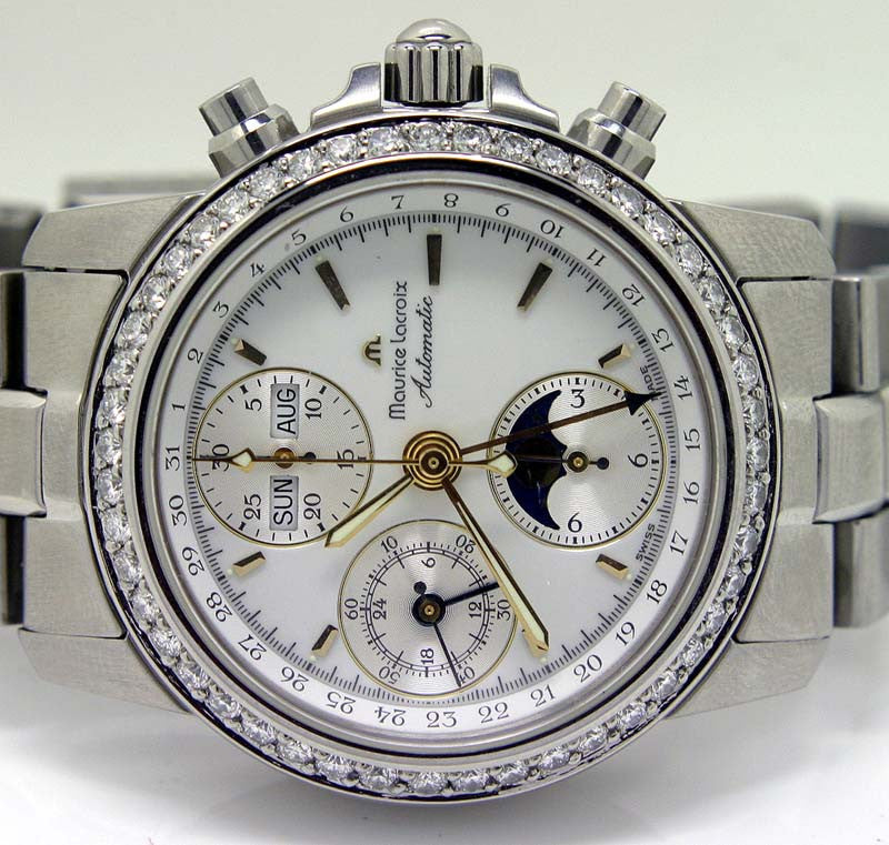 Maurice Lacroix Moonphase Chronograph - Chicago Pawners & Jewelers