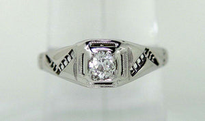 Antique 1930s Diamond Engagement Ring - Chicago Pawners & Jewelers