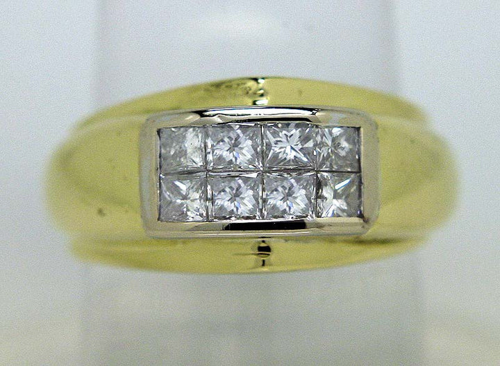 Men's 0.80ct Invisbly Set Diamond Ring