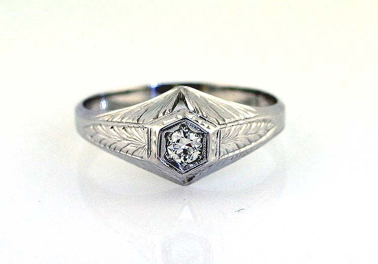 Man's Antique 18K Diamond Ring - Chicago Pawners & Jewelers