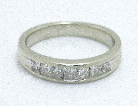 1.00ct Princess Cut Diamond Wedding Band - Chicago Pawners & Jewelers