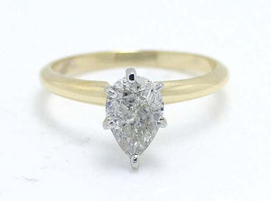 1.26ct Pear Shaped Diamond Solitaire Ring - Chicago Pawners & Jewelers