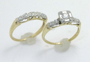 Vintage 1950s Diamond Bridal Set
