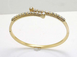 Victorian Diamond Bangle Bracelet - Chicago Pawners & Jewelers