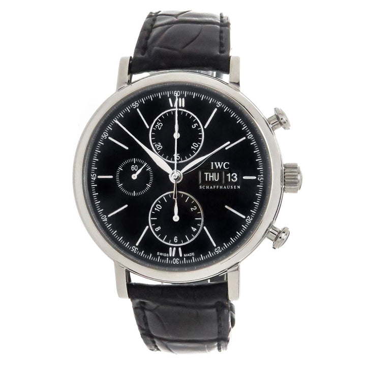 IWC Portofino Chronograph Black Dial - Chicago Pawners & Jewelers