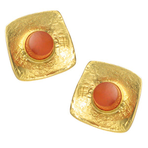 Jeff & Susan Wise Gold & Fire Opal Earrings
