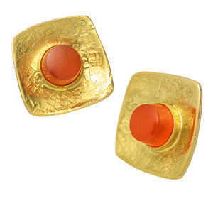 Jeff & Susan Wise Gold & Fire Opal Earrings - Chicago Pawners & Jewelers