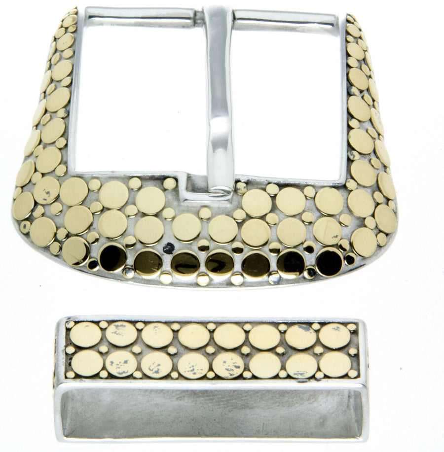 John Hardy Silver & 18kt Gold Belt Buckle Set - Chicago Pawners & Jewelers