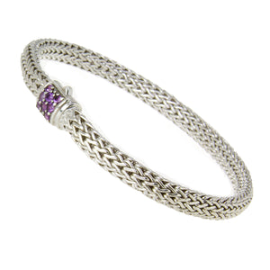 John Hardy Classic Chain Bracelet with Amethyst - Chicago Pawners & Jewelers