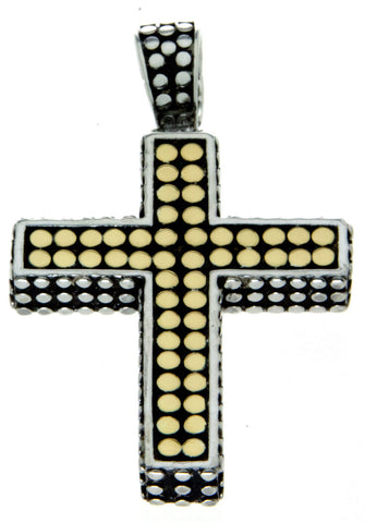 John Hardy Silver & 18kt Gold Dot Cross
