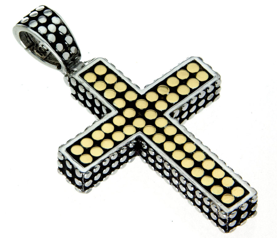 John Hardy Silver & 18kt Gold Dot Cross - Chicago Pawners & Jewelers