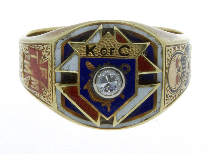 Vintage Diamond Knights of Columbus Ring
