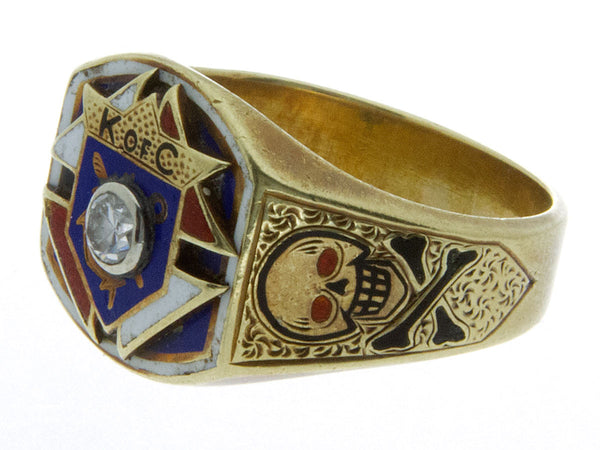 Vintage Diamond Knights of Columbus Ring – Chicago Pawners ...