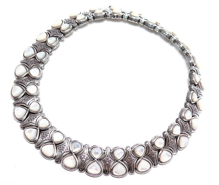 Konstantino Mother of Pearl Collar Necklace - Chicago Pawners & Jewelers