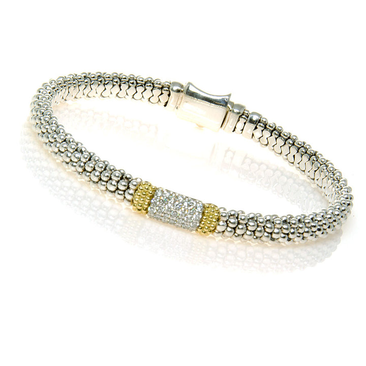 Lagos Diamond Lux Caviar Bracelet - Chicago Pawners & Jewelers