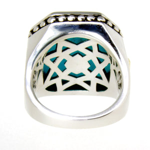 Lagos Caviar Color Rocks Turquoise Ring - Chicago Pawners & Jewelers