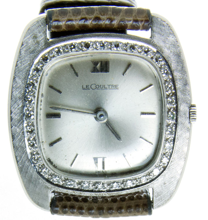1950s LeCoultre Gold & Diamond Watch - Chicago Pawners & Jewelers