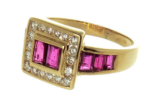 LeVian 18K Ruby & Diamond Ring - Chicago Pawners & Jewelers